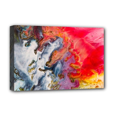 Art Abstract Macro Deluxe Canvas 18  X 12   by Nexatart