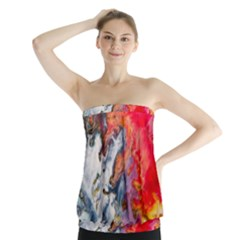 Art Abstract Macro Strapless Top