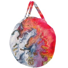 Art Abstract Macro Giant Round Zipper Tote