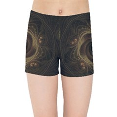 Beads Fractal Abstract Pattern Kids Sports Shorts