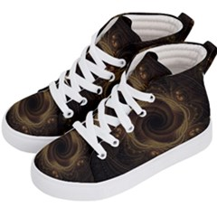 Beads Fractal Abstract Pattern Kid s Hi Top Skate Sneakers by Nexatart