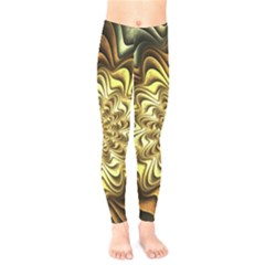 Fractal Flower Petals Gold Kids  Legging