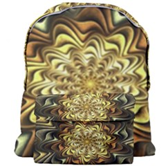 Fractal Flower Petals Gold Giant Full Print Backpack