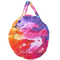 Abstract Art Background Paint Giant Round Zipper Tote