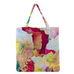 Art Detail Abstract Painting Wax Grocery Tote Bag