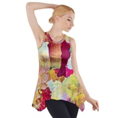 Art Detail Abstract Painting Wax Side Drop Tank Tunic by Nexatart