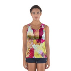 Art Detail Abstract Painting Wax Sport Tank Top