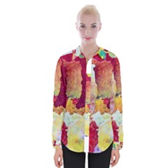 Art Detail Abstract Painting Wax Womens Long Sleeve Shirt