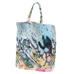 Abstract Structure Background Wax Giant Grocery Zipper Tote