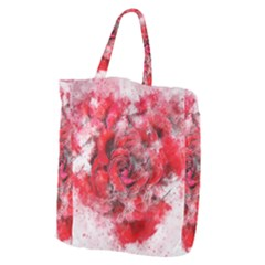 Flower Roses Heart Art Abstract Giant Grocery Zipper Tote
