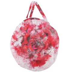 Flower Roses Heart Art Abstract Giant Round Zipper Tote