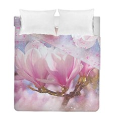 Flowers Magnolia Art Abstract Duvet Cover Double Side (full/ Double Size)