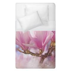 Flowers Magnolia Art Abstract Duvet Cover (single Size) by Nexatart