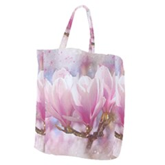 Flowers Magnolia Art Abstract Giant Grocery Zipper Tote