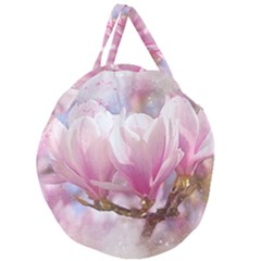 Flowers Magnolia Art Abstract Giant Round Zipper Tote