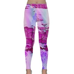 Background Crack Art Abstract Classic Yoga Leggings
