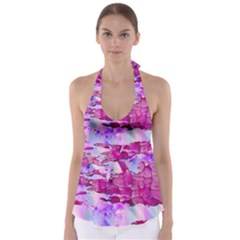 Background Crack Art Abstract Babydoll Tankini Top