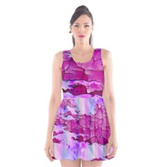 Background Crack Art Abstract Scoop Neck Skater Dress
