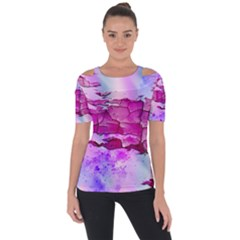 Background Crack Art Abstract Short Sleeve Top