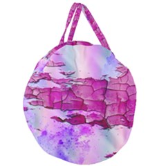 Background Crack Art Abstract Giant Round Zipper Tote