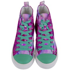 Background Crack Art Abstract Women s Mid Top Canvas Sneakers