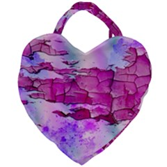 Background Crack Art Abstract Giant Heart Shaped Tote
