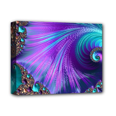 Abstract Fractal Fractal Structures Deluxe Canvas 14  X 11