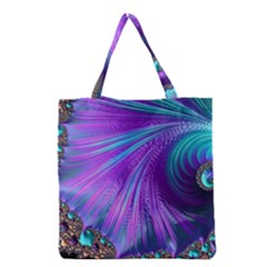 Abstract Fractal Fractal Structures Grocery Tote Bag
