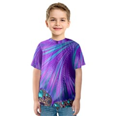 Abstract Fractal Fractal Structures Kids  Sport Mesh Tee