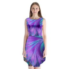 Abstract Fractal Fractal Structures Sleeveless Chiffon Dress
