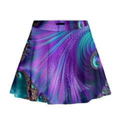 Abstract Fractal Fractal Structures Mini Flare Skirt