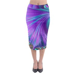 Abstract Fractal Fractal Structures Midi Pencil Skirt