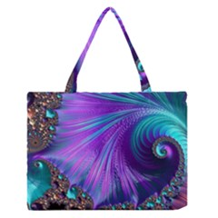 Abstract Fractal Fractal Structures Zipper Medium Tote Bag