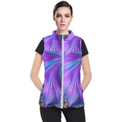 Abstract Fractal Fractal Structures Women s Puffer Vest