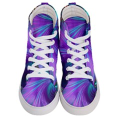 Abstract Fractal Fractal Structures Women s Hi Top Skate Sneakers