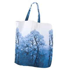Nature Inspiration Trees Blue Giant Grocery Zipper Tote