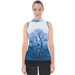 Nature Inspiration Trees Blue Shell Top