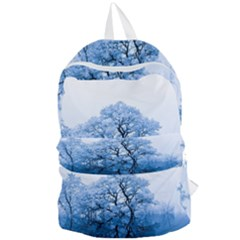 Nature Inspiration Trees Blue Foldable Lightweight Backpack
