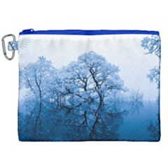 Nature Inspiration Trees Blue Canvas Cosmetic Bag (xxl)