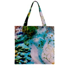 Abstract Art Modern Detail Macro Zipper Grocery Tote Bag