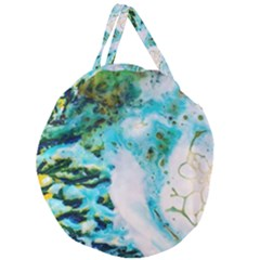 Abstract Art Modern Detail Macro Giant Round Zipper Tote