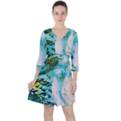 Abstract Art Modern Detail Macro Ruffle Dress