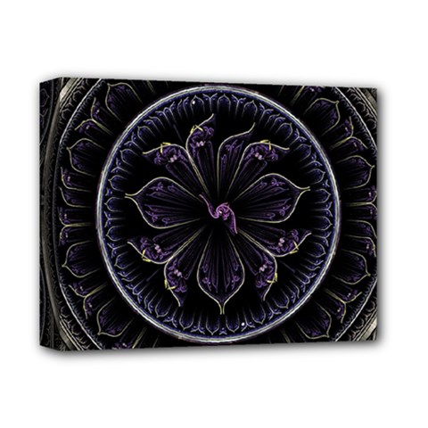 Fractal Abstract Purple Majesty Deluxe Canvas 14  X 11  by Nexatart
