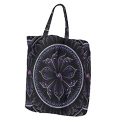 Fractal Abstract Purple Majesty Giant Grocery Zipper Tote