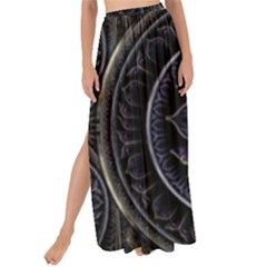 Fractal Abstract Purple Majesty Maxi Chiffon Tie-up Sarong