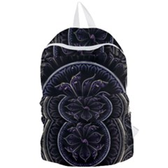 Fractal Abstract Purple Majesty Foldable Lightweight Backpack