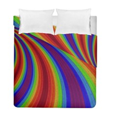 Abstract Pattern Lines Wave Duvet Cover Double Side (full/ Double Size)