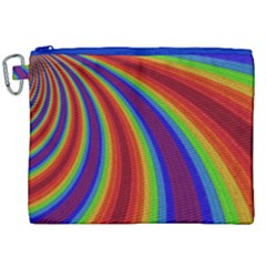 Abstract Pattern Lines Wave Canvas Cosmetic Bag (xxl)