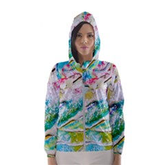 Art Abstract Abstract Art Hooded Wind Breaker (women)
