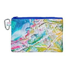 Art Abstract Abstract Art Canvas Cosmetic Bag (large) by Nexatart
